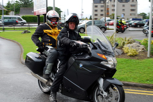 Child and Parent on a Motorcycle
